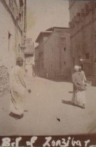 Black and white image of Zanzibar Old Town
