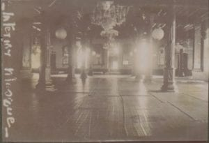 A black and white image of Zanzibar mosque