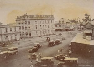 An archive photo of central Nairobi in 1918