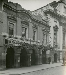 • Façade of the Theatre Royal, built 1904 (Bristol Archives, TR/Sm/1/4/1)