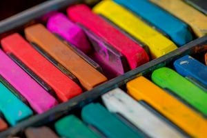 A selection of colourful chalks