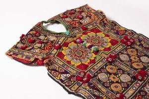 A colourful women's tunic.