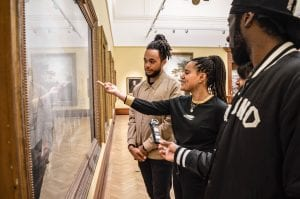 Uncomfortable Truths participants Tayo and Vanessa uncover the story behind the painting 'Battle of The Saints' at Bristol Museum & Art Gallery