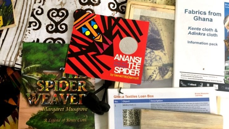 School loan box: Ghana textiles