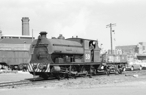 An archive photo of the Henbury steam train when it was a working locomotive