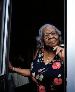 Older woman in door way (Barbara Dettering)