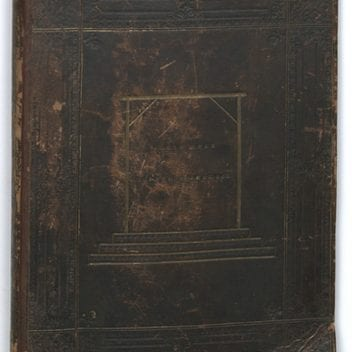 the outside of the horwood book, bound in the skin of john horwood