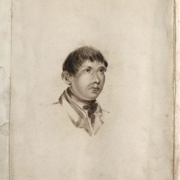 drawing/painting of john horwood