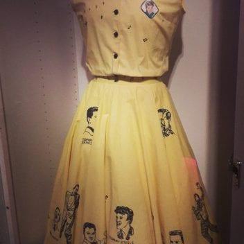skirt and top.