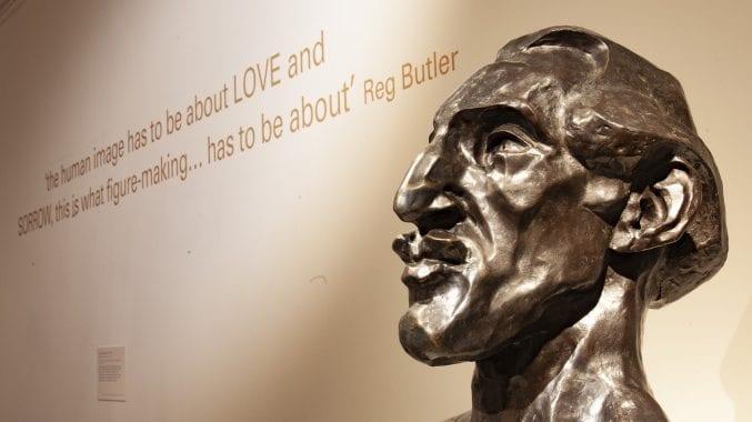 A sculpture of a man's head inside a gallery at Bristol Museum & Art Gallery