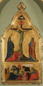 A painting depicting the crucifixion of Jesus