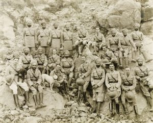 Soldiers from the 14th Sikh Regiment c. 1918