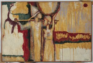 Two Figures in a Landscape, by Jimo Akolo 1963