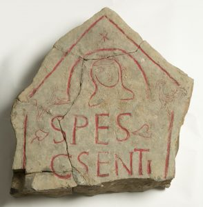 A Roman tombstone found at Sea Mills. The young woman this stone commemorated was about 20-25 years old when she died.