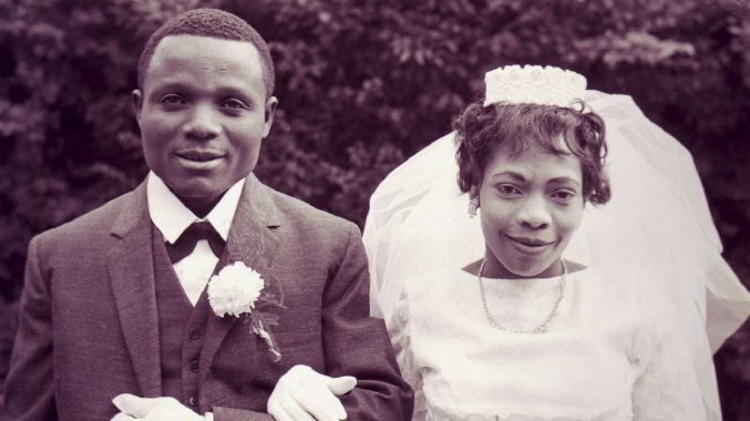 Iva Williams stood next to her husband on her wedding day.