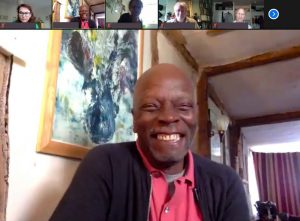Errol Francis from Black Southwest Network appearing on Zoom