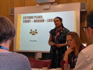 A decolonisation workshop taking place in Bristol