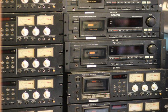Cassette decks. Photo courtesy British Library