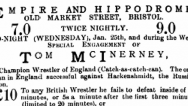 """Good Old Knowle"" – The wrestling craze in Bristol and the South West c.1900"
