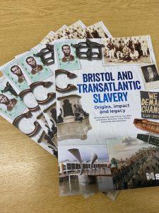 A stack of Bristol and Transatlantic Slavery textbooks