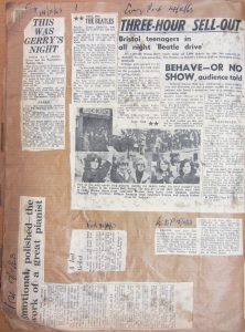 A series of newspaper clippings taken from an album now in the Bristol Beacon archive
