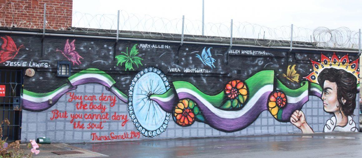 theresa garnett mural at HMP horfield